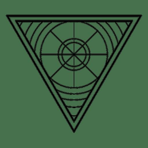 Geometría sagrada triangular Transparent PNG