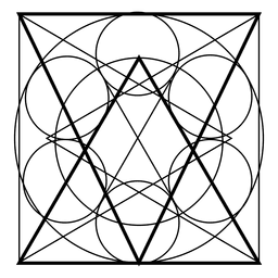 Sacred geometry from square