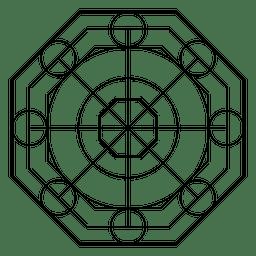 Forma da geometria do octógono