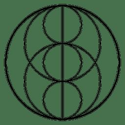 Heilige Geometrie mit Kreisen