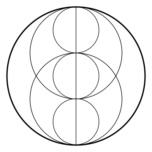 Geometria sagrada com círculos Transparent PNG