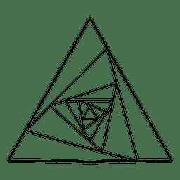 Geometría sagrada geométrica del triángulo