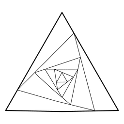 Geometria sagrada geométrica do triângulo