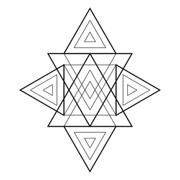 Figura de triângulos de geometria sagrada