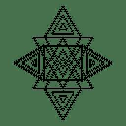 Figura de triángulos geometría sagrada