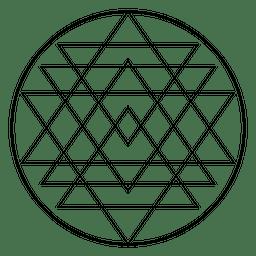 Geometria sagrada simétrica