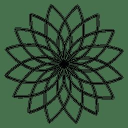 Flor de loto de geometría sagrada