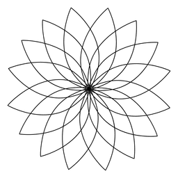 Sacred geometry lotus flower