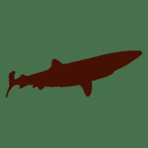Silueta de tiburon grande Transparent PNG