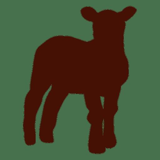 Silueta de granja de ovejas reci?n nacidas