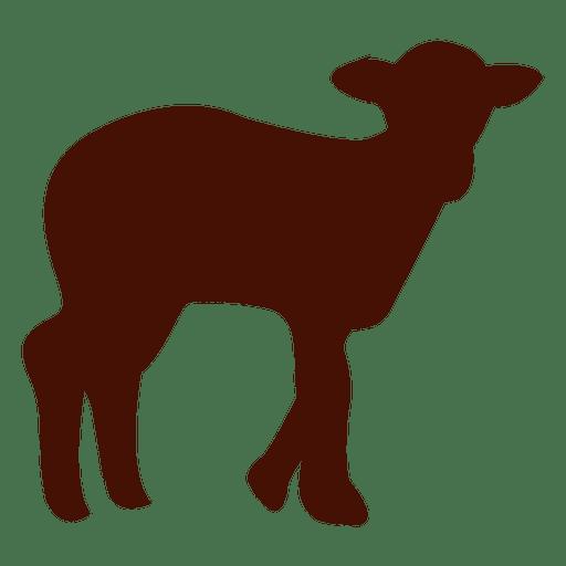 Silueta de oveja en rojo