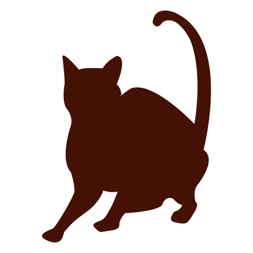 Standing Cat Silhouette
