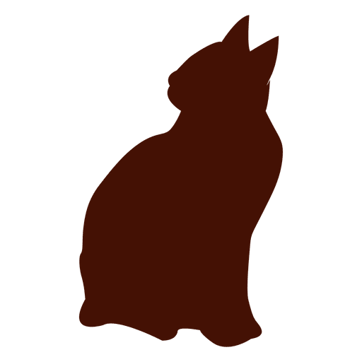 Seated Cat Silhouette