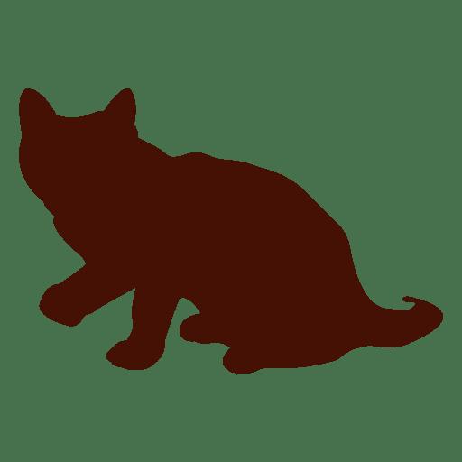 Rising Cat Silhouette