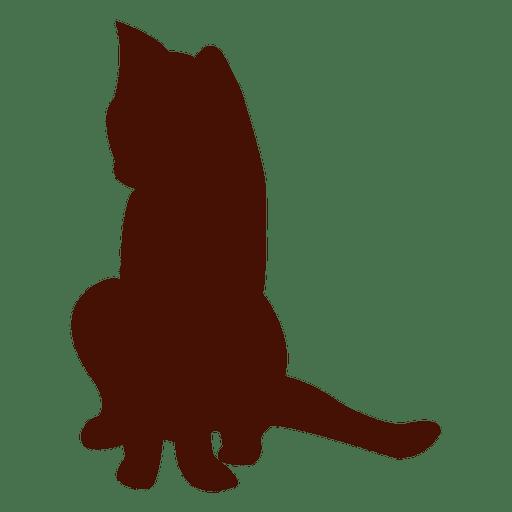 Silueta de un gato mascota
