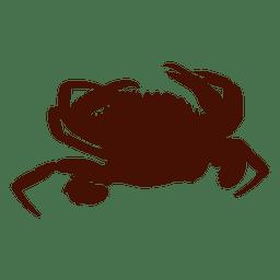 Cangrejo silueta