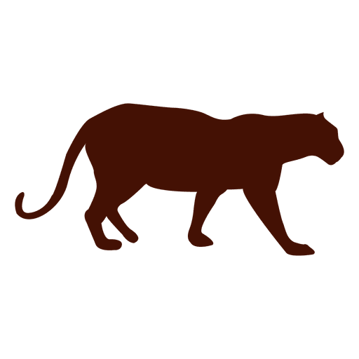 Mascota pantera silueta