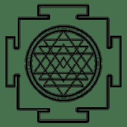 Esquema de geometría sagrada de Sri Yantra