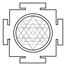 Sri Yantra Sacred Geometry Outline