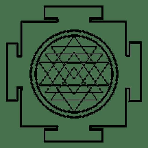 Sri Yantra Sacred Geometry Outline Transparent PNG