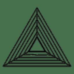 Diseño sagrado de la geometría del triángulo