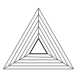 Triangle sacred geometry design
