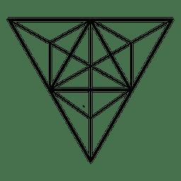 Triángulo de la geometría sagrada