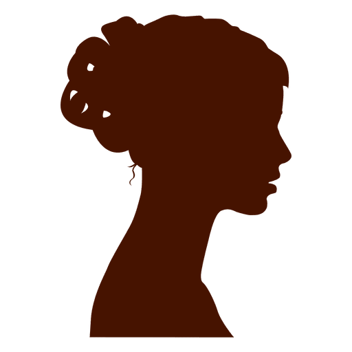 Woman profile silhouette bow Transparent PNG
