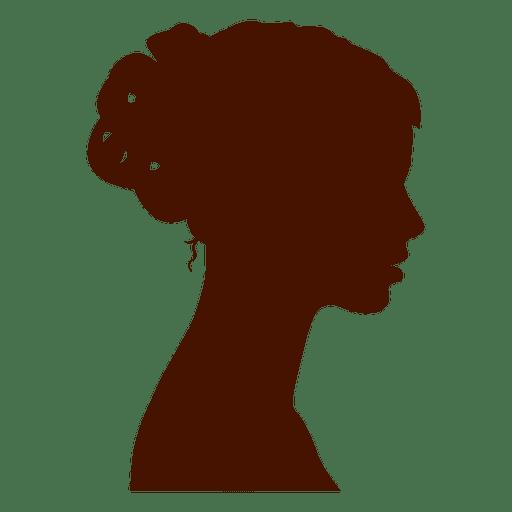 Woman profile silhouette bow