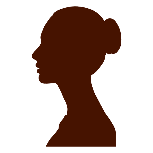 Woman profile silhouette eastrn europe Transparent PNG