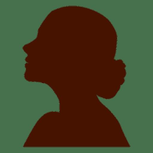 Perfil de la mujer de la silueta del flamenco Transparent PNG