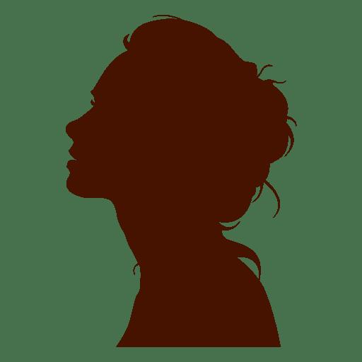 Woman profile silhouette sexy