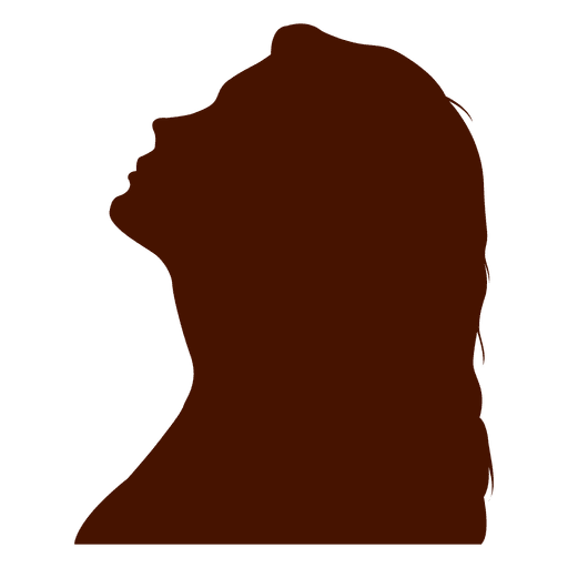 Woman profile silhouette up