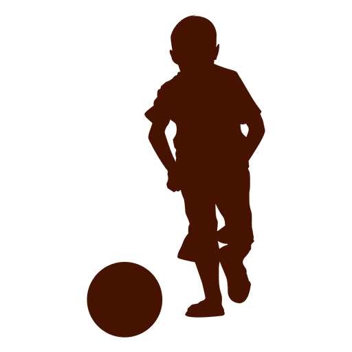 Boy Playing Ball Silhouette Transparent PNG