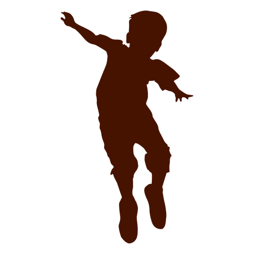 Boy jumping silhouette Design Transparent PNG