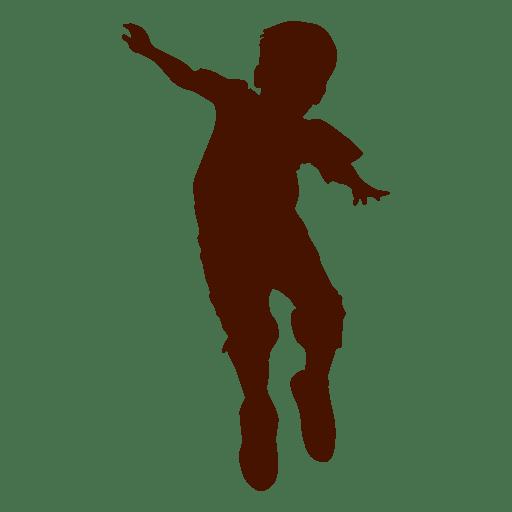 Diseño de silueta de niño saltando