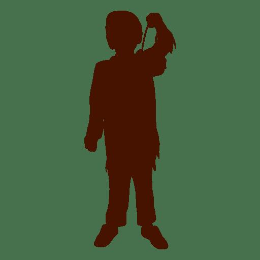 Boy play silhouette