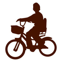 Child bicycle silhouette