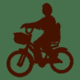 silhueta da bicicleta da criança