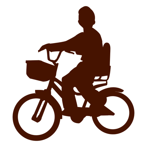 Child bicycle silhouette Transparent PNG