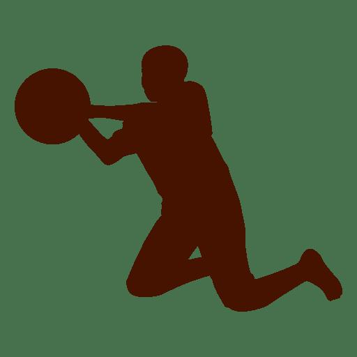 Criança, basquetebol, pular, silueta Transparent PNG