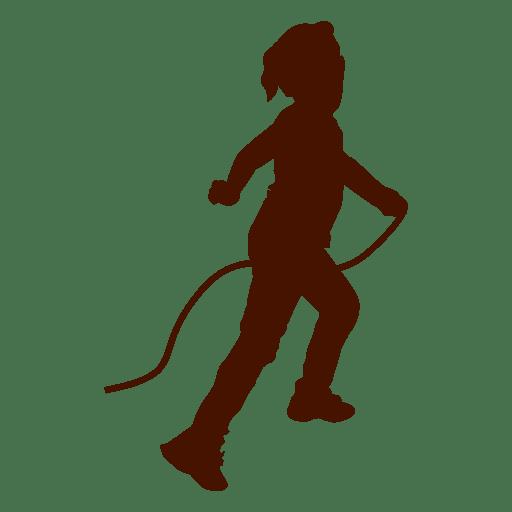 Niño jugando silueta de cuerda