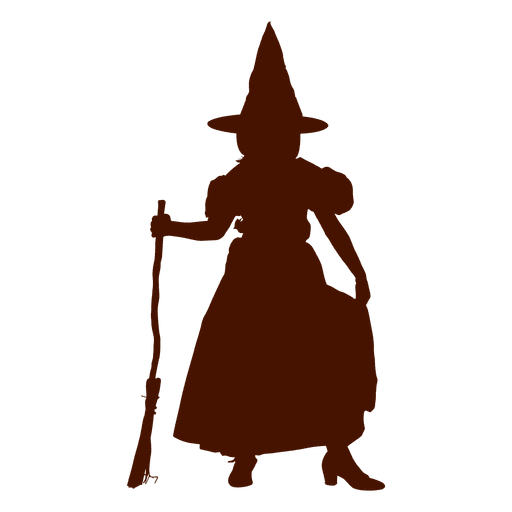 Child witch costume silhouette Transparent PNG