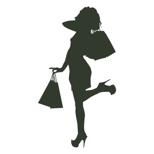 ef940292832 Girl with Shopping bags - Transparent PNG & SVG vector