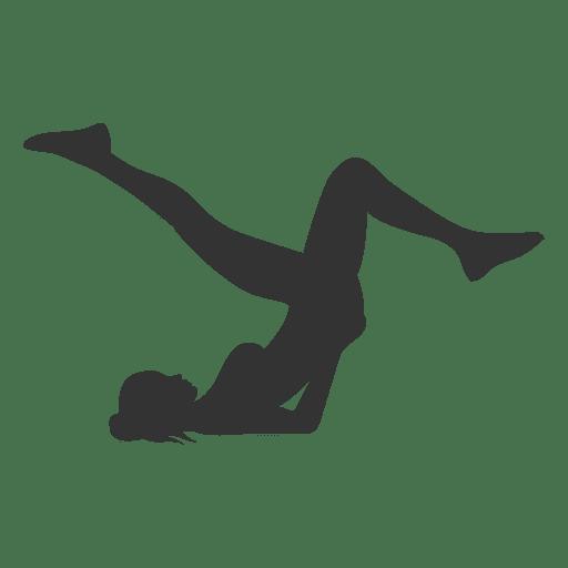 Fitness mujer silueta levantando caderas Transparent PNG