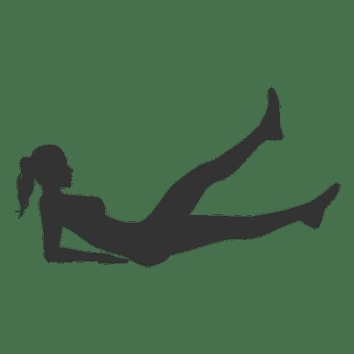 Fitness mujer silueta levantando las piernas Transparent PNG