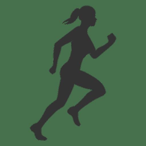 Corrida de silhueta de mulher de fitness