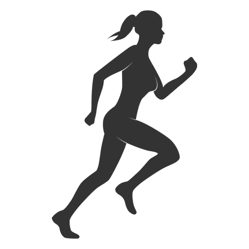 Fitness woman silhouette run Transparent PNG