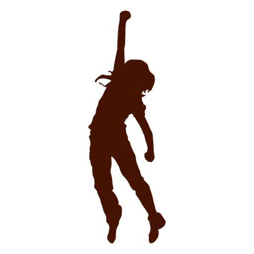 Mädchen tanzen Silhouette Transparent PNG