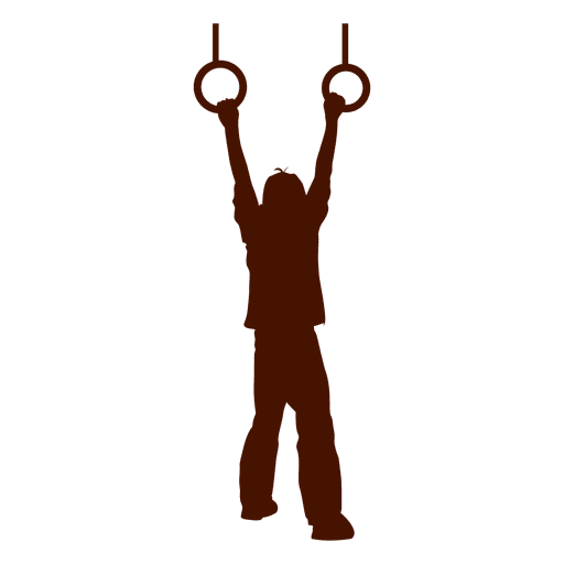 kid hanging rings silhouette transparent png svg vector